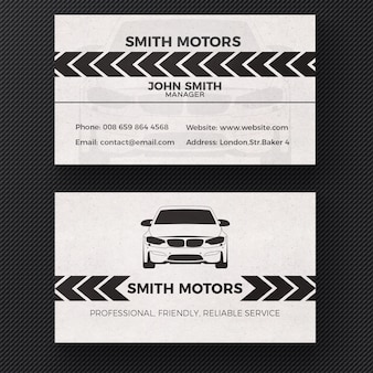 Car service business card