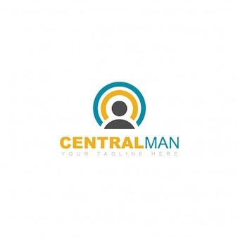 Central man logo