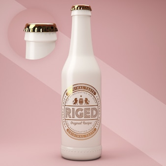Ceramic bottle psd mockup