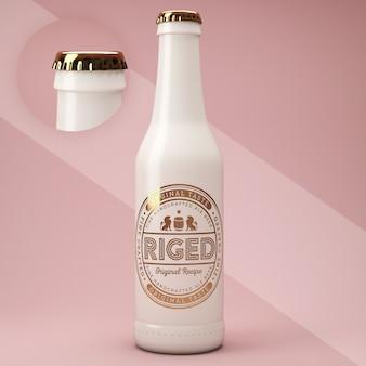 Ceramic bottle psd mockup