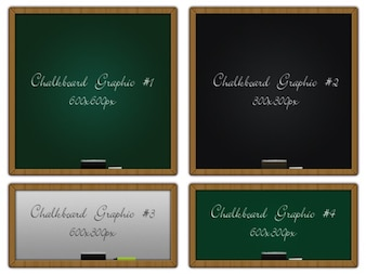 Chalkboard graphics psd & png files