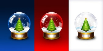 Christmas snow globe icon