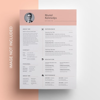 Clean resume with topbar