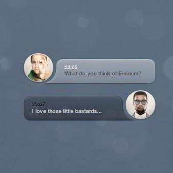 Clean speech bubbles UI elements