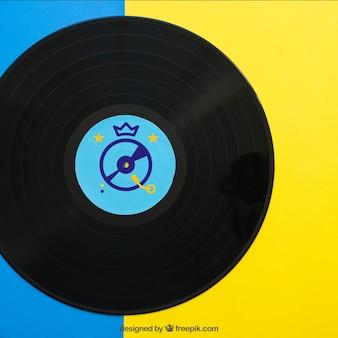 Close up vinyl mockup