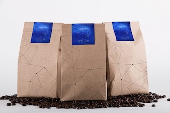 Coffee bag mock up design