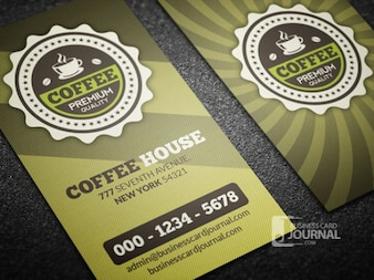 Coffee business card template retro style