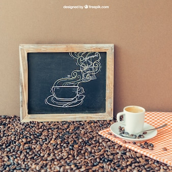 Coffee decoration with slate