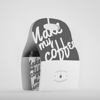 Coffee packaging mock up