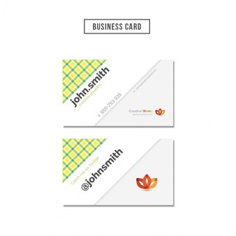 Colored squares business card