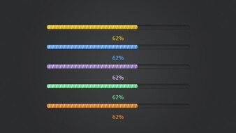Colorful progress bar PSD material