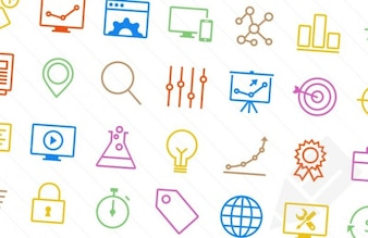 Colorful SEO icons
