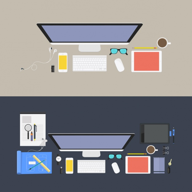 Coloured workplaces design