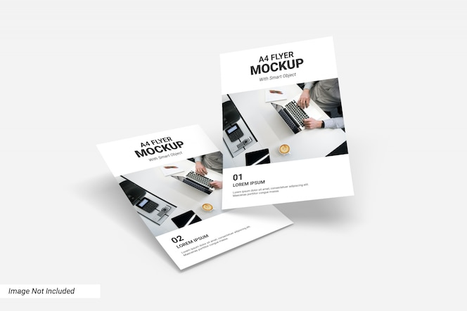 Concept of business flyer mockup