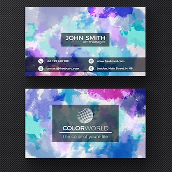 Corporate card with watercolor
