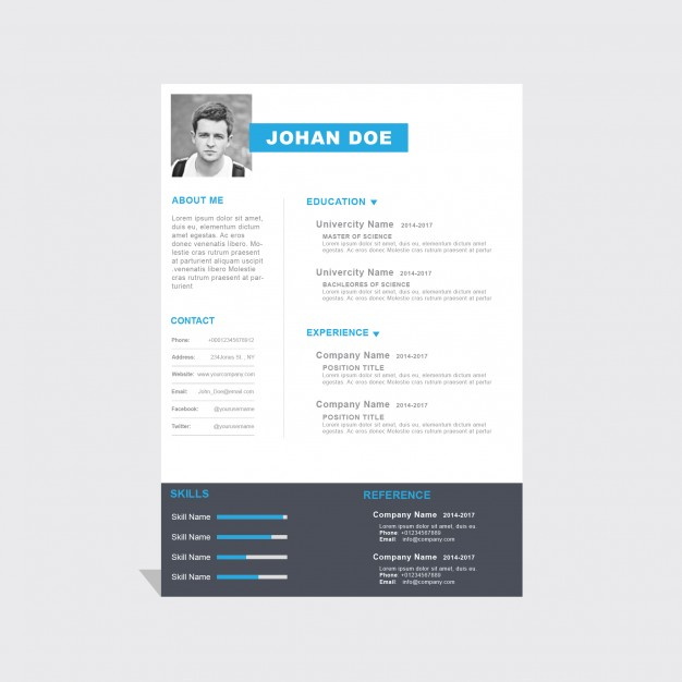 Corporate curriculum vitae template