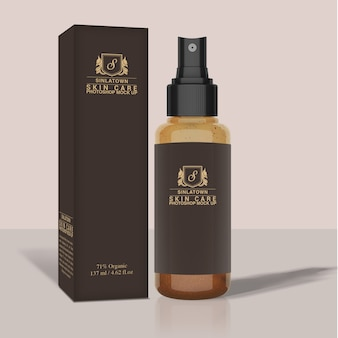 Cosmetic packaging mock up