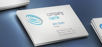 Creative business card with company name