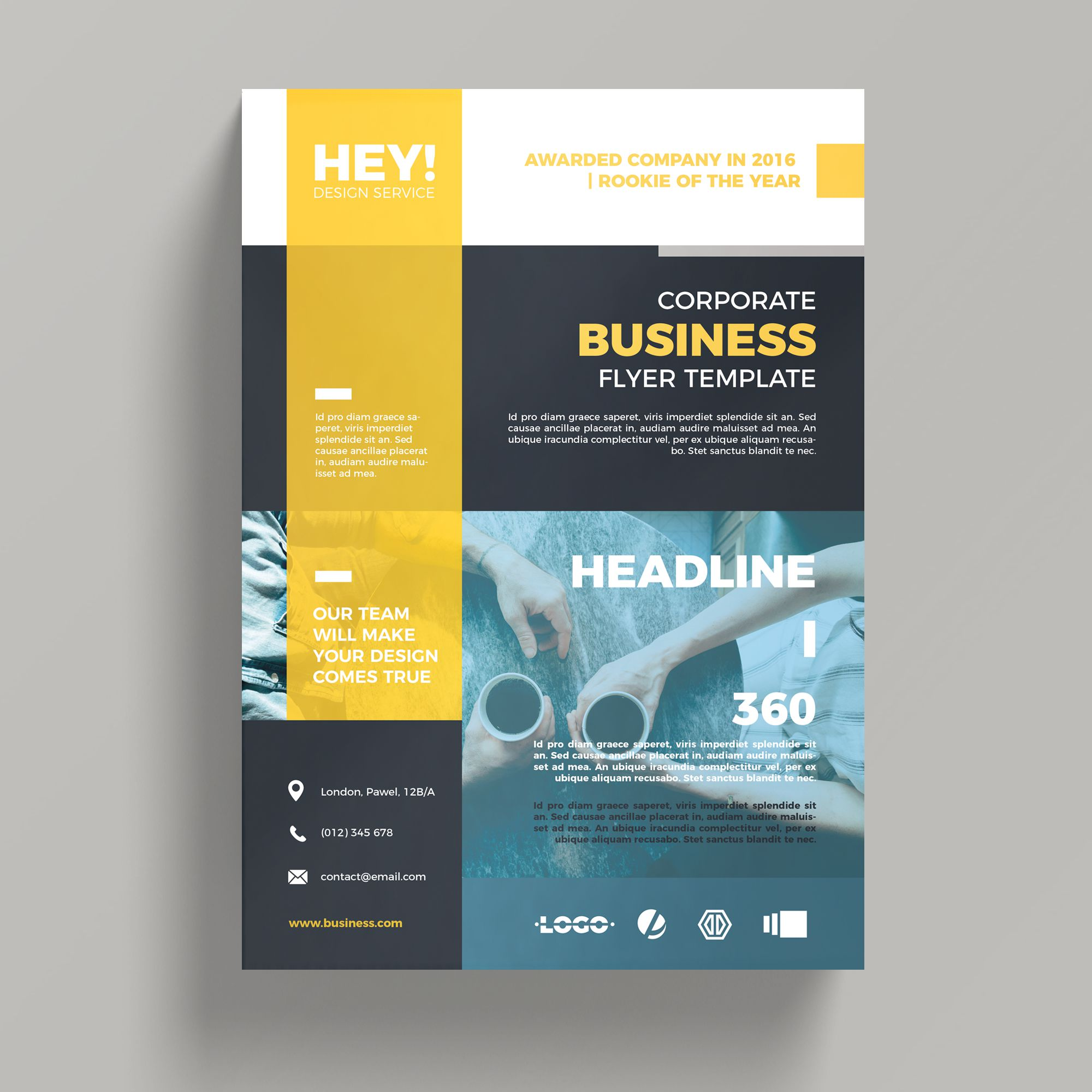 Creative corporate business flyer template