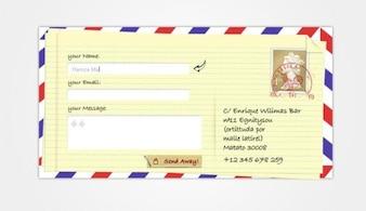 creative envelope contact form ui psd