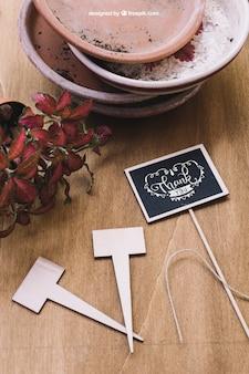 Творческий садоводческий макет