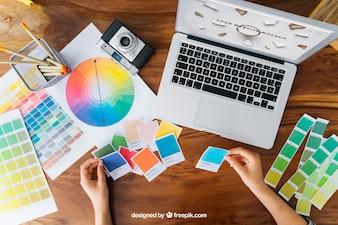 Creative graphic designer mockup