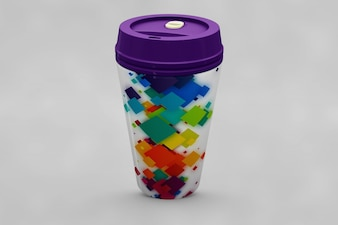 Creative take away cup mock up