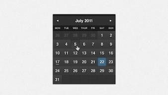 dark formal calendar psd