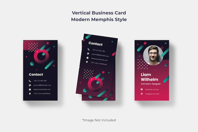 Dark Gradient Business Card Template
