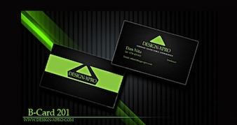 dark modern business card template set psd