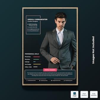 Dark modern resume cv template