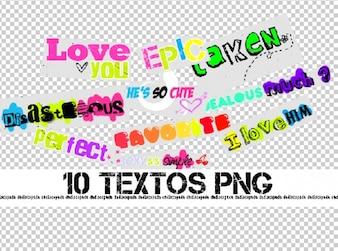 De textos png