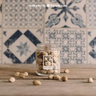 Decorative nuts mockup