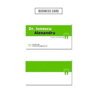 Dentist business card design