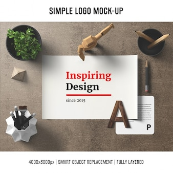 Desk mock up template