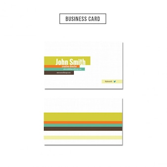 Dots textured business card with colored strapes