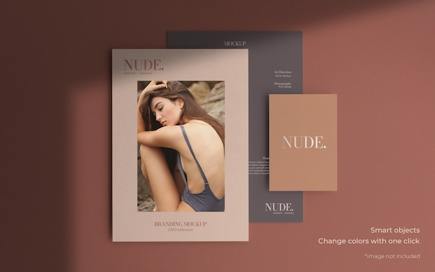 Elegant brochure mockup in different sizes