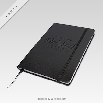 Elegant dark notebook mockup