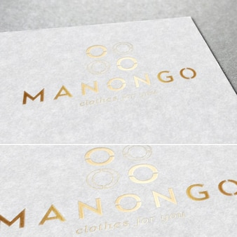 Elegant golden logotype