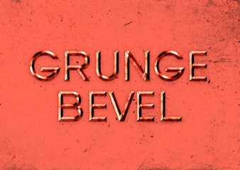 Embossed text effect with grunge style