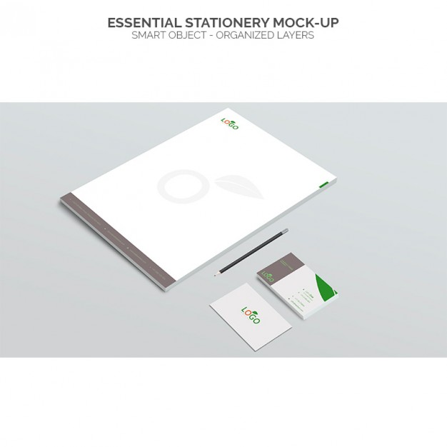 Essential stationery mock up