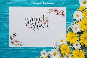 Floral bridal shower concept