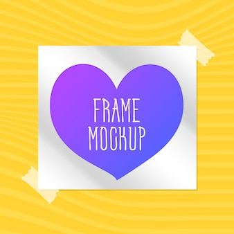Frame mock up design