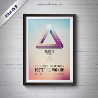Frame mockup with poster