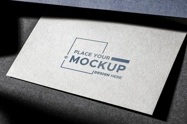 Front view business card mock-up