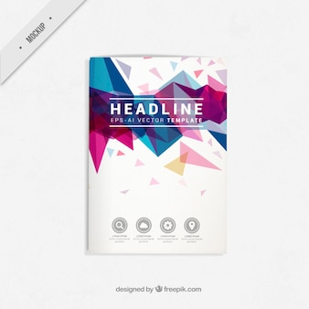 Geometric flyer mockup in modern style