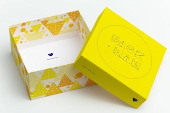 Подарочная коробка макете дизайн
