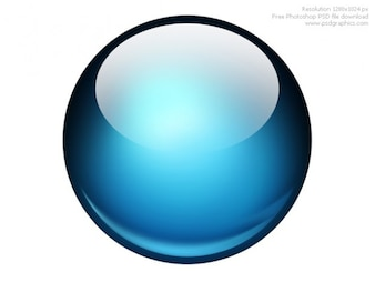 Glossy ball Photoshop icon