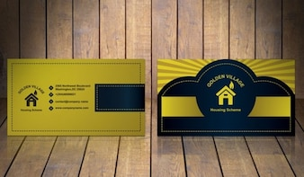Golden business card template