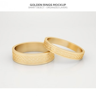 Golden rings mock up